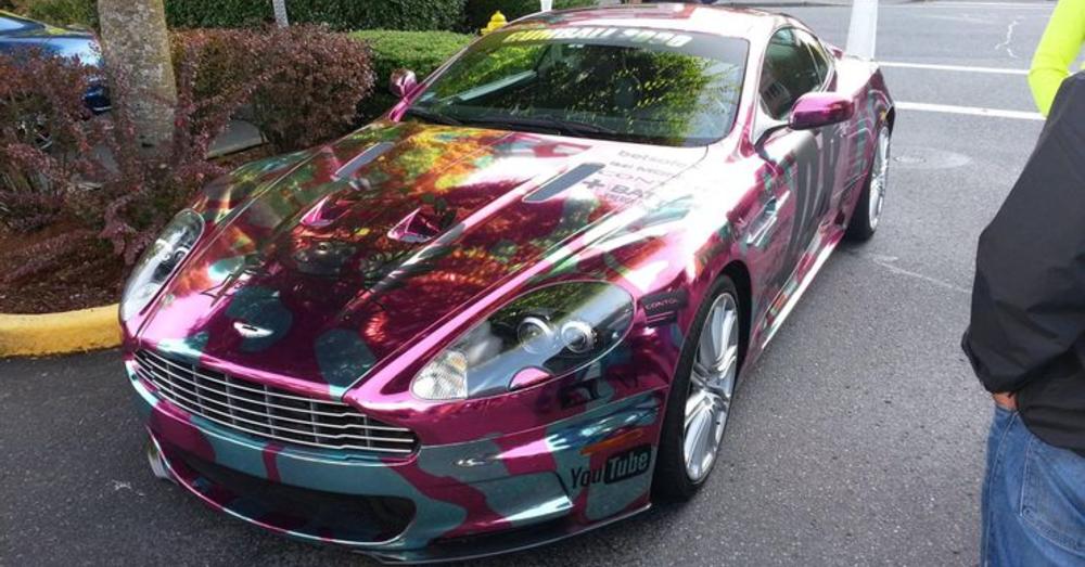 Aggressively Bright Aston Martin